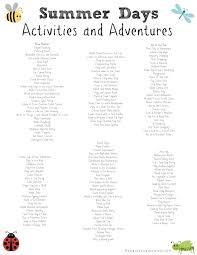 150 activities for kids on summer break summer schedule for