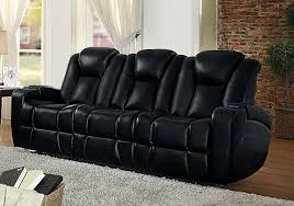 Black Reclining Sofa Homelegance Madoc Power Reclining Sofa Set Leather Gel Match