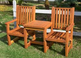 Cushion Settee Vignette Wood Settee Joined Outdoor Redwood Chairs