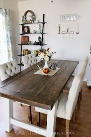 country style dining room table diy farmhouse style dining table with regard to room decor 2