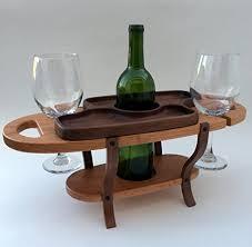 amazon com handmade wood wine caddy tabletop wine bottle rack