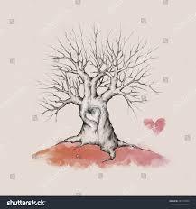 Wedding Tree Wedding Tree Without Leaves Stock Illustration 251571064
