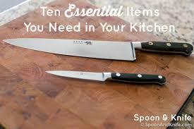 top 10 kitchen essentials spoon u0026 knife