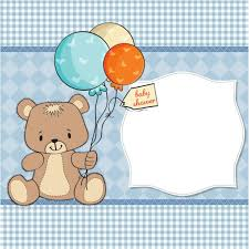 holding balloons for baby shower vector free
