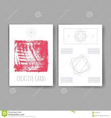 Invitation Cards Business Set Of Trendy Abstract Cards With Mystic Logos Modern Hipster