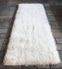 Shaggy Runner Rug Buy White Shaggy Shag Area Runner Rug 7 X 2 High End Designer