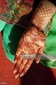 indian henna tattoo design on hand dehradun india stock photo