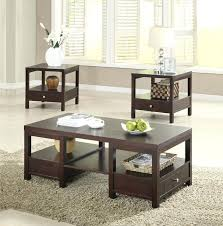 glass coffee table set of 3 coffe table set coffee table and end contemporary coffee tables