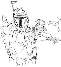 boba fett coloring pages eliolera com