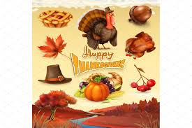 thanksgiving vector art thanksgiving cartoon objects vector illustrations creative market