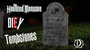 how to make realistic fake tombstones diy halloween youtube