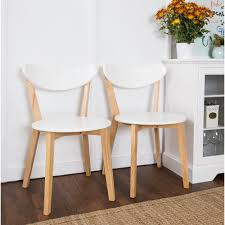 Online Furniture Walker Edison Furniture Company White And Natural Dining Chair