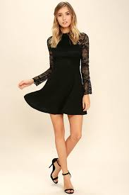 buy socialite up my life black lace skater dress