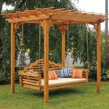 pergola swing a l western red cedar pergola swing bed set