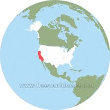 us map globe where is california located on the map
