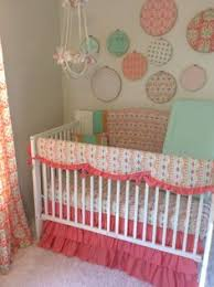 Gold Crib Bedding Sets Navy Mint Coral And Gold Crib Bedding For A Baby Https Www