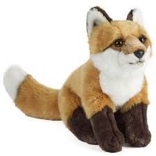 large fox plush soft toy rspb gifts for kids rspb shop