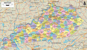 Usa Highway Map Kentucky County Map Usa
