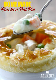 homemade chicken pot pie the country cook