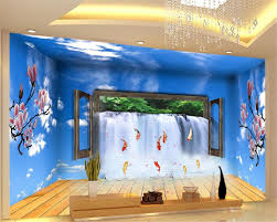 online buy wholesale 3d waterfall mural from china 3d waterfall