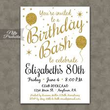 25 bästa 80th birthday invitations idéerna på pinterest
