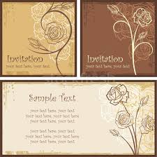 wedding invitations vector vector set of ornamental invitation designs with roses great for