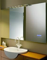 bathroom framed oval bathroom mirror on white brick wall cool