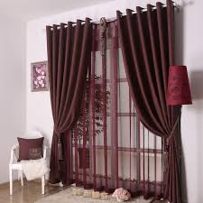 maroon curtains for bedroom bedroom or living room decorative dark red curtains