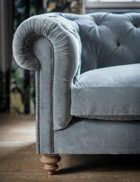 Real Chesterfield Sofa by Velvet Chesterfield Sofa By Rose U0026 Grey