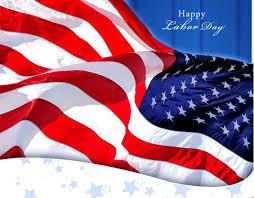 Waving American Flag Happy Labor Day Waving American Flag
