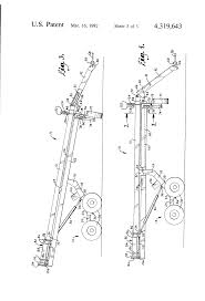 patent us4319643 front folding agricultural tool bar with