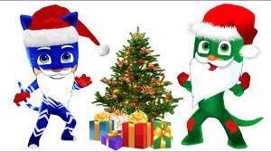pj masks christmas santa claus coloring pages for kids pj masks