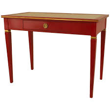 french style writing desk 1940s french directoire style gilded red lacquer desk by jansen for