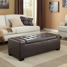 simpli home laredo large storage ottoman bench walmart com