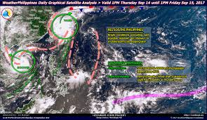 Satellite Weather Map Weatherphilippines Daily Graphical Satellite Analysis From 1pm
