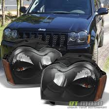 2005 jeep grand headlights black 2005 2006 2007 jeep grand replacement headlights