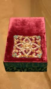 The Top Of The Cover Has Been Adorned With Hand Zardozi Embroidery