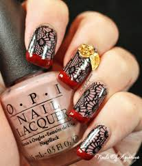 easy thanksgiving nail art designs silk stockings stamped nail art design featuring opi