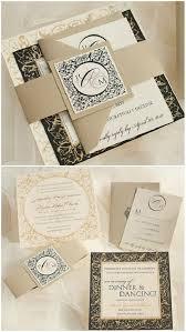 einladungskarten goldene hochzeit mit foto golden und schwarz klappkarten mit muster einladung zur hochzeit