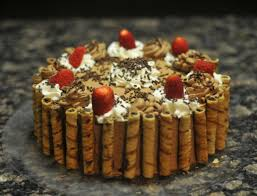 gourmet cakes strawberry wafer gourmet cake icings r us