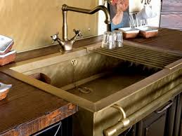 kitchen sink with drainboard brass kitchen sink brass kitchen