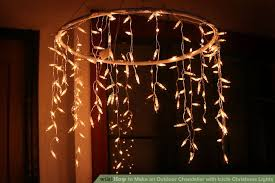 Chandelier Wiki How To Make An Outdoor Chandelier With Icicle Lights