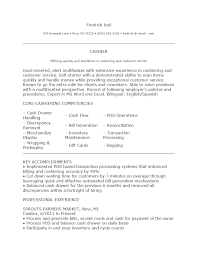 Resume Sample Of Cashier by Resume For Restaurant Cashier Business Charts Free Chart Templates