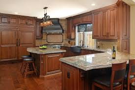 cleaning stained wood kitchen cabinets traditional cherry kitchen with rich stain cabinets