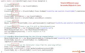 Map In Java What Are All The Different Ways To Create An Object In Java Total