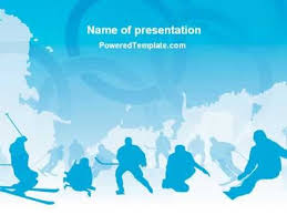 winter sport powerpoint template by poweredtemplate com youtube