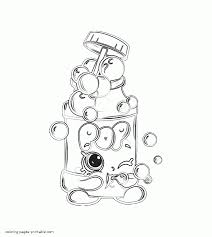 cartoon characters coloring pages pops bubble blower