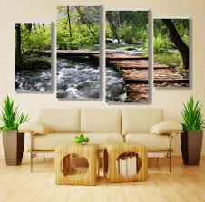 stream rainforest retro waterfall pictures canvas prints home