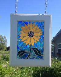 Home Decor Group Swampscott Stained Glass Sunflower Suncatcher Sunflower Stained Glass