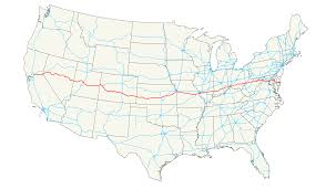 United States Map With Interstates by U S Route 50
